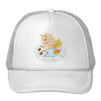 1 year old Birthday Unicorn Mesh Hats
