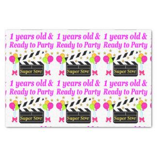 1 YEAR OLD SUPER STAR BIRTHDAY DESIGN TISSUE PAPER