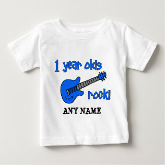 1 year olds rock! Personalised Baby's 1st Birthday Tees