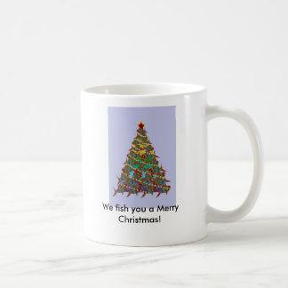 1aFishTree, We fish you a Merry Christmas! Coffee Mugs