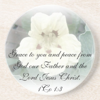1Co 1:3  Grace to you and peace from God our Fathe Beverage Coasters