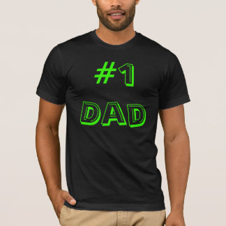 #1Dad in Alphabet Soup Font. Customize Me! T-Shirt