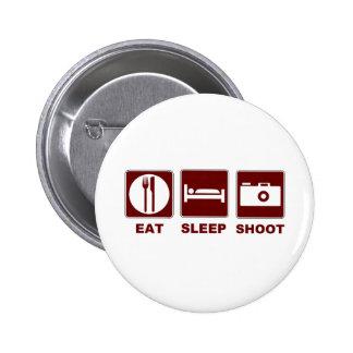 1eat sleepBlankSHOOT 6 Cm Round Badge
