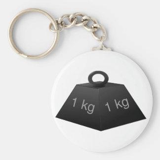 1KG Weight Keychain Basic Round Button Keychain