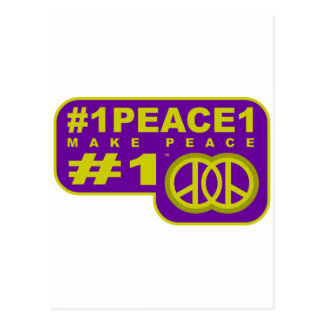 #1peace1 twitter peace maker T-shirts Postcard