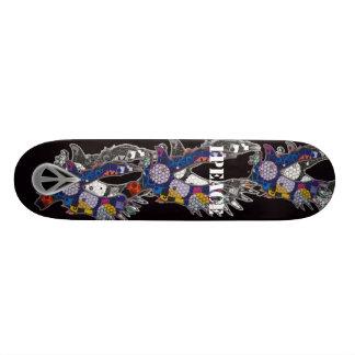 1PEACE eagleknight blk Skateboard Decks