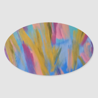 1S5 Abstract 1.jpg Oval Sticker
