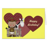 1st 2nd 3rd Birthday Ethnic Toddler Boys Greeting Card