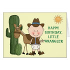 1st 2nd 3rd Birthday Toddler Boys Card