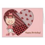 1st 2nd 3rd Birthday Toddler Girls Greeting Card