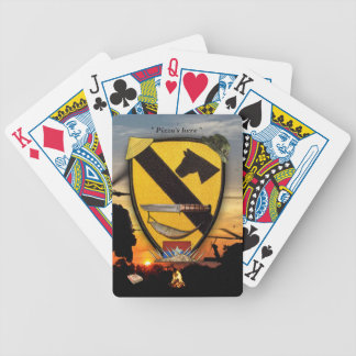 1st 7th cavalry air cav LRRP vietnam veterans Bicycle Playing Cards