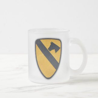 1st 7th cavalry division air cav veterans vets frosted glass coffee mug
