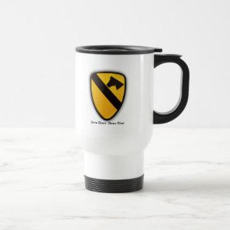 1st 7th cavalry lrrps recon air cav veterans vets stainless steel travel mug