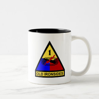 1st AD Old Ironsides Patch Two-Tone Coffee Mug