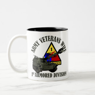 1st AD Proud Wife Two-Tone Coffee Mug