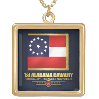 1st Alabama Cavalry Gold Plated Necklace