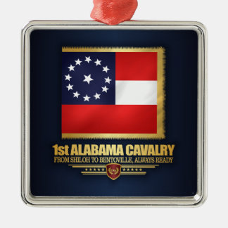 1st Alabama Cavalry Metal Ornament