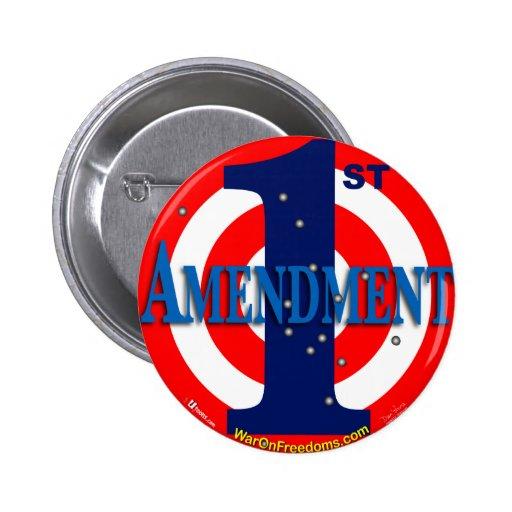 1st Amendment Pinback Buttons