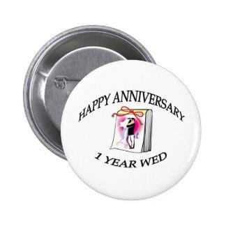 1st ANNIVERSARY 6 Cm Round Badge