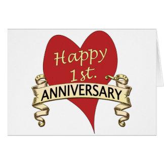 1st. Anniversary Card