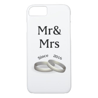1st anniversary matching Mr. Ast Mrs. Since 2016 iPhone 8/7 Case