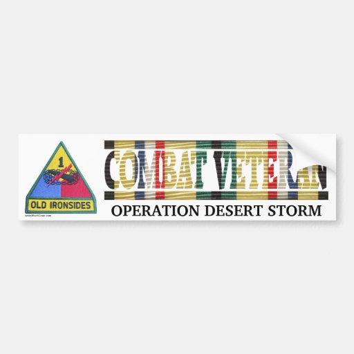 1st Armored Div. SWA Combat Veteran Sticker Bumper Sticker