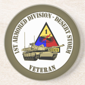 1st Armored Division [1st AD] Beverage Coaster
