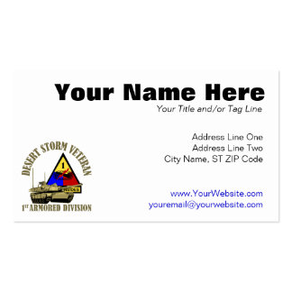 1st Armored Division [1st AD] Pack Of Standard Business Cards