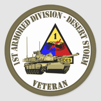 1st Armored Division [1st AD] Round Sticker