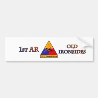 1st Armored Division Car Bumper Sticker