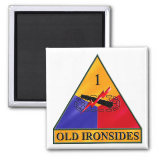 1st Armored Division Square Magnet