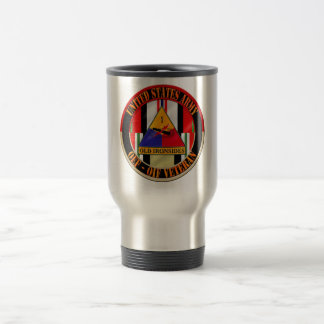1st Armored Division OEF OIF Veteran Stainless Steel Travel Mug
