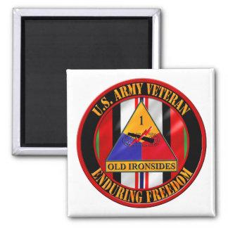 1st Armored Division OEF Veteran Fridge Magnet