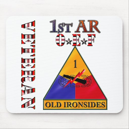 1st Armored Division OEF Veteran Mouse Pad