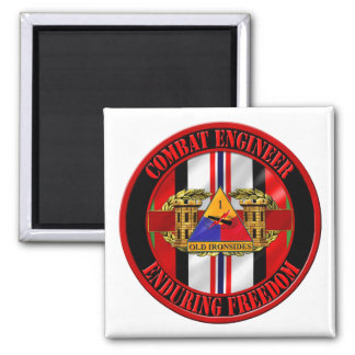 1st Armored Division OEF Veteran Square Magnet