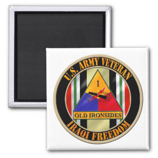 1st Armored Division OIF Veteran Square Magnet