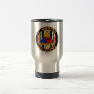 1st Armored Division OIF Veteran Stainless Steel Travel Mug