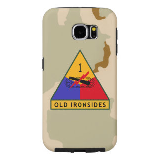"""1st Armored Division """"Old Ironsides"""" Desert Camo Samsung Galaxy S6 Cases"""