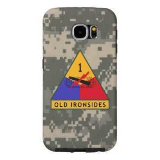 """1st Armored Division """"Old Ironsides"""" Digital Camo Samsung Galaxy S6 Cases"""