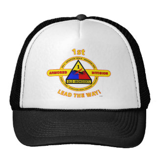 """1ST ARMORED DIVISION """"OLD IRONSIDES"""" MESH HATS"""