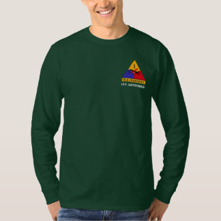 """1st Armored Division """"Old Ironsides"""" Long Sleeve Tee Shirts"""