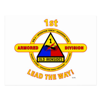 """1ST ARMORED DIVISION """"OLD IRONSIDES"""" POSTCARD"""