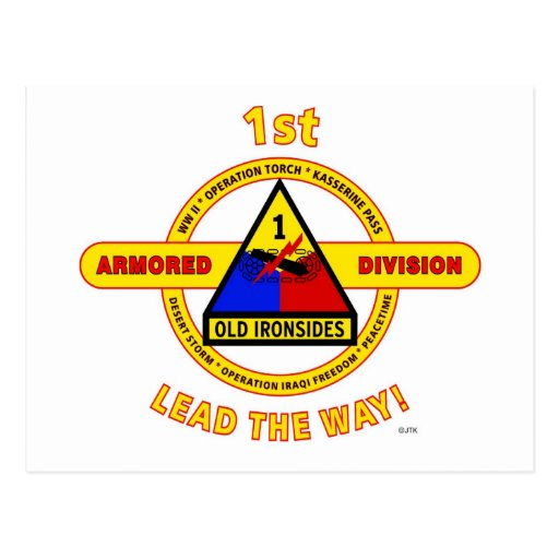 """1ST ARMORED DIVISION """"OLD IRONSIDES"""" POSTCARDS"""