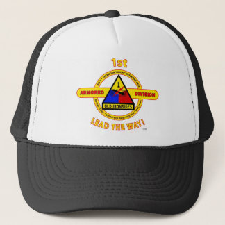 """1ST ARMORED DIVISION """"OLD IRONSIDES"""" TRUCKER HAT"""