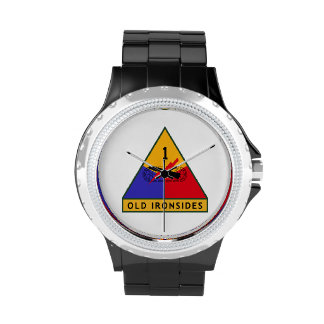 """1st Armored Division """"Old Ironsides"""" Wrist Watch"""