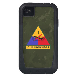 1st Armored Division Old Ironsides WW II Camo iPhone4 Case