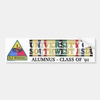 1st Armored Division U of Southwest Asia Sticker Bumper Sticker