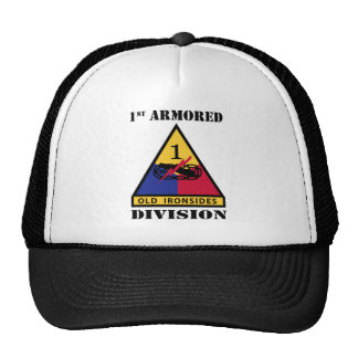 1st Armored Division W/Text Trucker Hat