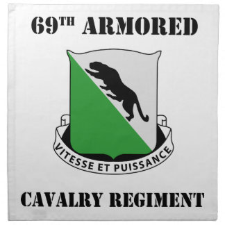1st Armored Division W/Text Napkins