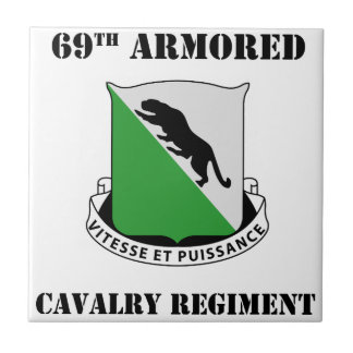 1st Armored Division W/Text Small Square Tile